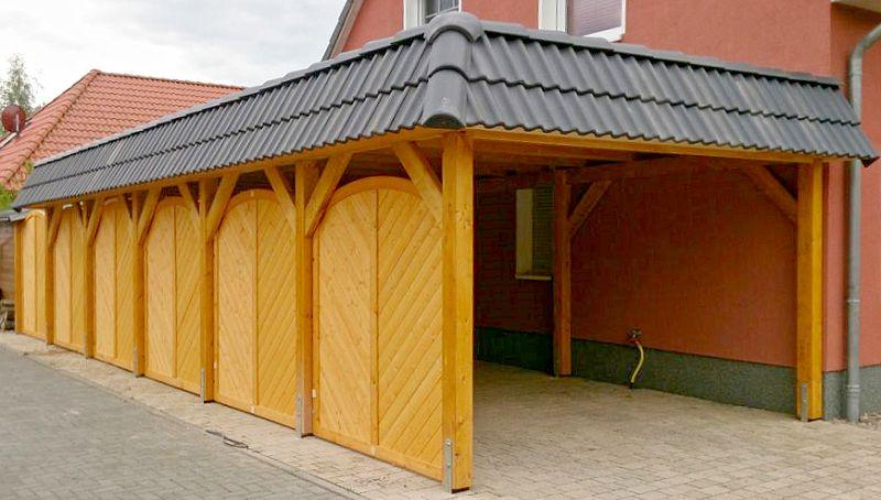 Carport mit zweireihigem Dachstein in Berlin-Teltow