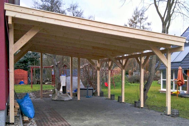 Carport Dach mit Vollschalung in Teltow