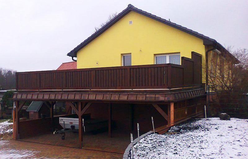Carport mit Terrasse in Lychen